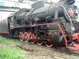 Паровоз Эр 797 - 41 едет на 5 путь паровозного депо